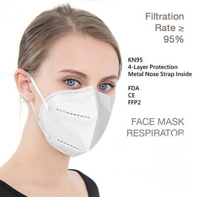 3-Ply 4-Ply Face Mask Respirator 30 Pack Medical KN95 Breathable Disposable