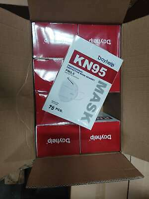 KN95 Face Mask Respirator 75 Pack Medical PM2.5 Breathable 4-Layer Protection