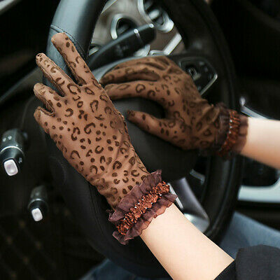 Women Sun Protection Gloves Summer Thin Section Driving Non-Slip UV Lace Gloves