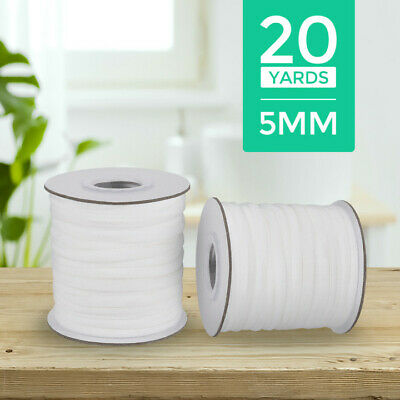 5mm 20 Yards Round Elastic Band For DIY Sewing Bands Cord Ear Hanging Trimming