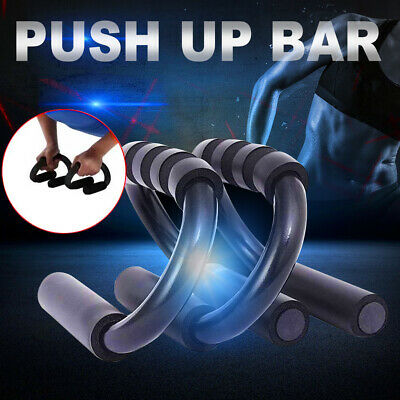Push Up Foam Handles Press Pull Up Stand Chest Exercise Workout Bars Home Gym