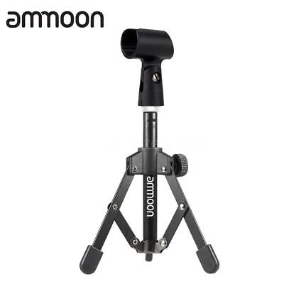 ammoon MS-12 Mini Foldable Adjustable Desktop Microphone Stand Tripod with Z2R7