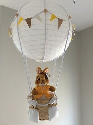 Peter rabbit  theme hot air balloon nursery light shade, made to order…