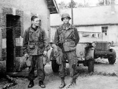Dick Winters and Lewis Nixon Easy Company 101st Airborne WW2 WWII Re-Print 5x7