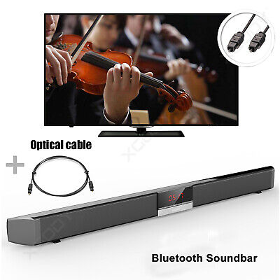 Powerful TV Sound Bar Home Theater Soundbar System Subwoofer Coaxial Optical NEW