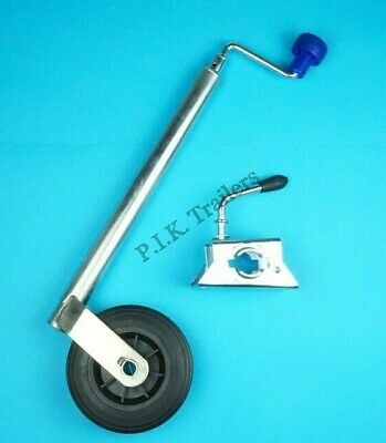 34mm dia. tube Standard Duty Jockey Wheel & Clamp for Leisure & Boat Trailer #25