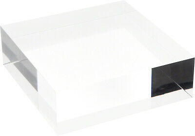 """Plymor Clear Polished Acrylic Square Display Block, 2"""" H x 6"""" W x 6"""" D"""