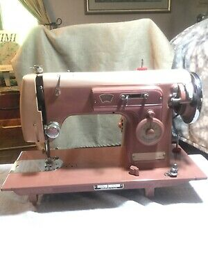 Vintage Sears Kenmore 158 353 Pink Sewing Machine- UNTESTED, Missing Power Cable