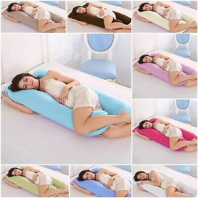10Ft Comfort U Shape Pillow & Cover Full Total Body Pregnancy Maternity Support