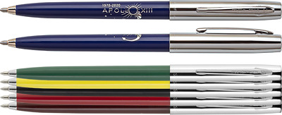 50th anniversary APOLLO 13 pen BLUE//CHROME Fisher Space Pen blister carded S775