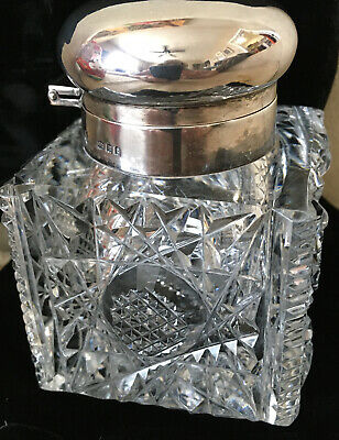 Inkwell Sterling And Cut Crystal! Beautiful