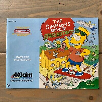 NES - Simpsons: Bart Vs. The Space Mutants - Instruction Manual Only