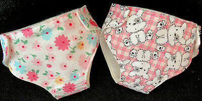 """2 New Dolls Nappies Fits Baby Annabell Baby Born Luvabella Dolls Clothes 16-18"""""""