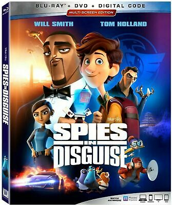 Spies In Disguise(Blu-Ray+Dvd+Digital Code) >>>New<<< W/Slipcover