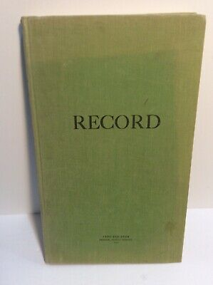 Federal Supply Ruled Green Cloth Bound Ledger Record Book A-Z Tabbed