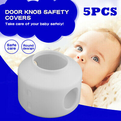 Baby Safety Door Knob Covers DoorKnob Locks Child Children Kids Proof 5