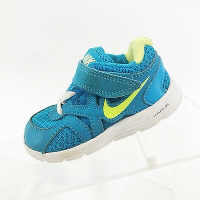 Nike Lunar Glide Toddler Baby Boys Athletic  Shoes Sz 5 Child Blue Sneakers