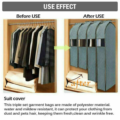 Clothing Suit Dress Dust Cover Clothes Protector Storage Bag Garment Damp-proof