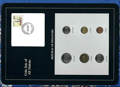 Coin Sets of All Nations Singapore UNC 1986-1988 $1 1988