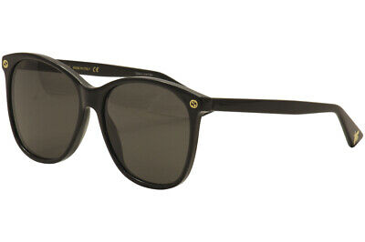 Gucci Women's GG0024S GG/0024/S 001 Black/Gold Fashion Sunglasses 58mm