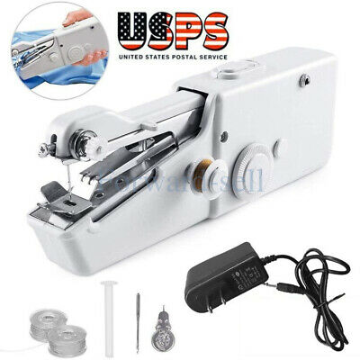 Mini Portable Smart Electric Tailor Stitch Hand-held Sewing Machine +Charger