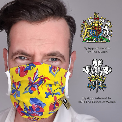 Yellow Mask / Made In UK / Comfortable Protective Face Mask / Washable