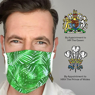 Green Mask Made In UK / Comfortable Protective Face Mask / Washable And Reusable