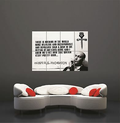 Hunter S Thompson Gonzo Fear Loathing Quote Typography Binge Poster