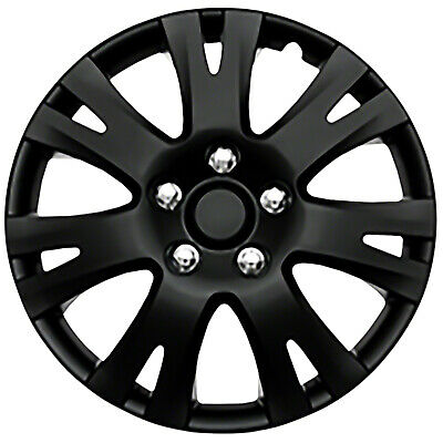 """Set of Four 16"""" Black Wheel Covers For Mazda 6 2009 - 13"""