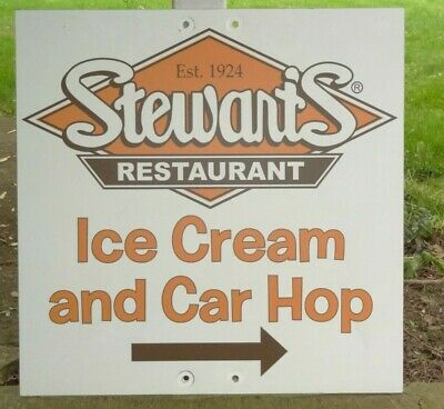 Stewart's Restaurant Root Beer Ice Cream & Car Hop Large 2' x 2' Store Sign