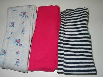 NEXT Set of 3 Girls Warm Tights - Size 11-12 Years