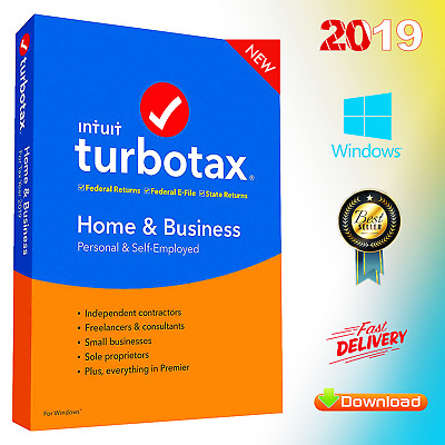 TurboTax Home & Business 2019 ✅ Latest Version for Win Fast Delivery ✅