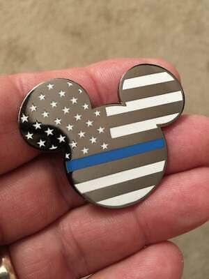 Disney Security Police Mickey Mouse Blue Line Pin