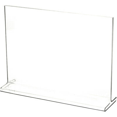 "Plymor Clear Acrylic Sign Display / Literature Holder (Top-Load), 10"" W x 7"" H"