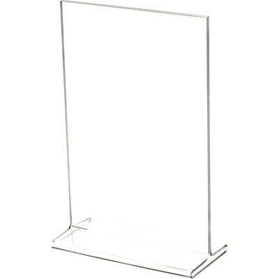 "Plymor Clear Acrylic Sign Display / Literature Holder (Top-Load), 5"" W x 7"" H"