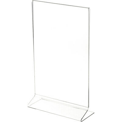 "Plymor Clear Acrylic Sign Display / Literature Holder (Side-Load), 7"" W x 11"" H"