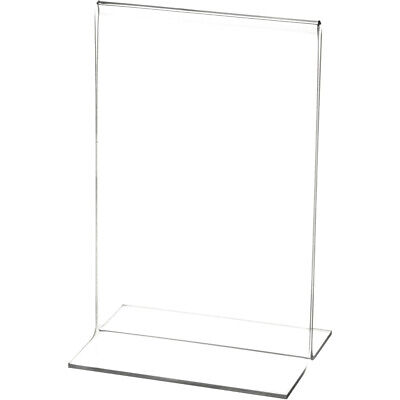 "Plymor Clear Acrylic Sign Display/Literature Holder (Bottom-Load), 8"" W x 10"" H"