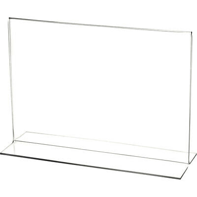 "Plymor Clear Acrylic Sign Display/Literature Holder (Bottom-Load), 10"" W x 7"" H"
