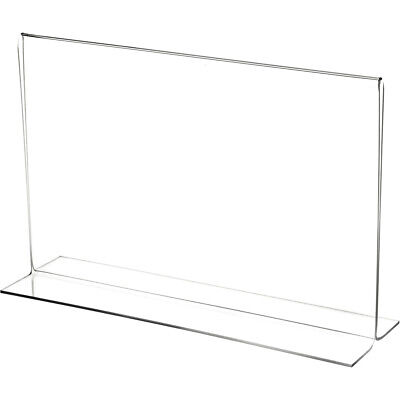 "Plymor Clear Acrylic Sign Display/Literature Holder (Bottom-Load), 11"" W x 7"" H"