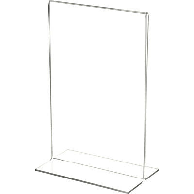 "Plymor Clear Acrylic Sign Display/Literature Holder (Bottom-Load), 5.5""W x 8.5""H"
