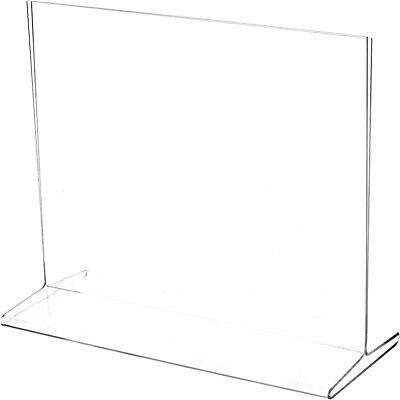 "Plymor Clear Acrylic Sign Display / Literature Holder (Top-Load), 10"" W x 8"" H"