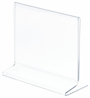 "Plymor Clear Acrylic Sign Display / Literature Holder (Side-Load), 7"" W x 5.5"" H"