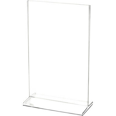 "Plymor Clear Acrylic Sign Display/Literature Holder (Top-Load), 5.5"" W x 8.5"" H"