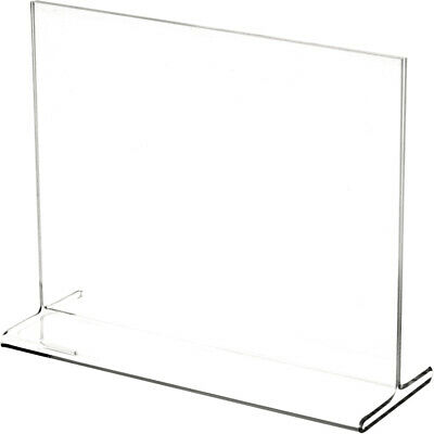 "Plymor Clear Acrylic Sign Display / Literature Holder (Top-Load), 7"" W x 5.5"" H"