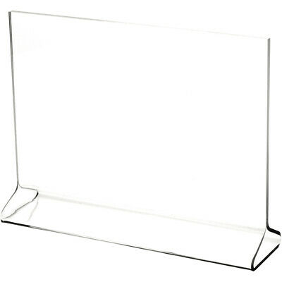 "Plymor Clear Acrylic Sign Display / Literature Holder (Top-Load), 9"" W x 6"" H"