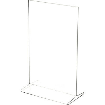 "Plymor Clear Acrylic Sign Display/Literature Holder (Bottom-Load), 7"" W x 11"" H"