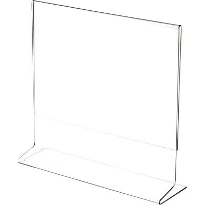 """Plymor Clear Acrylic Sign Display / Literature Holder (Side-Load), 10"""" W x 8"""" H"""