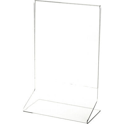 "Plymor Clear Acrylic Sign Display / Literature Holder (Side-Load), 6"" W x 8"" H"