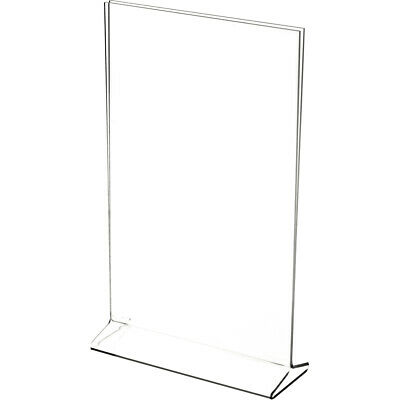 "Plymor Clear Acrylic Sign Display / Literature Holder (Top-Load), 7"" W x 9"" H"