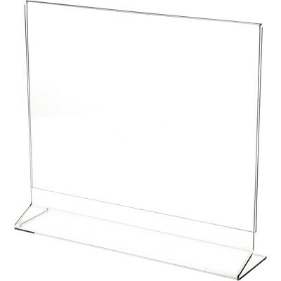 "Plymor Clear Acrylic Sign Display/Literature Holder (Side-Load), 11"" W x 8.5"" H"
